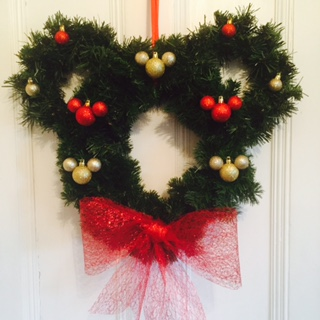 mickey mouse icon inspired christmas wreath - Mickey Mouse Christmas Wreath
